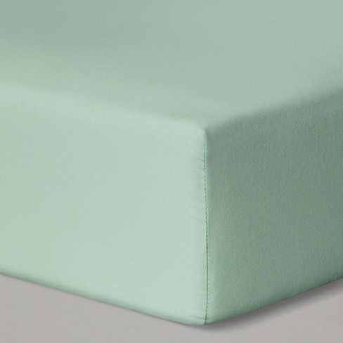 Fitted Crib Sheet Solid - Cloud Island™ Mint - image 1 of 1