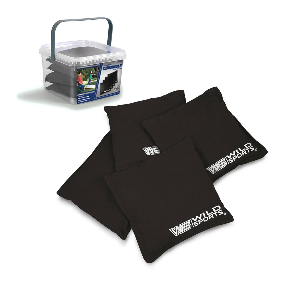 Image of Wild Sports Authentic Cornhole 16oz Bean Bag Set 4pk - Black