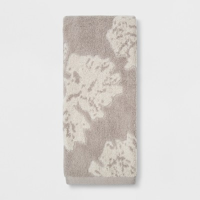 Jacquard Floral Decorative Hand Towel Creamy Chai - Project 62™