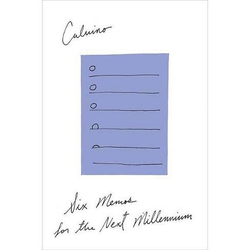 Six Memos for the Next Millennium - by  Italo Calvino (Paperback) - image 1 of 1