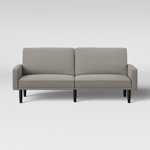 Futon Sofa With Arms Light Gray Room