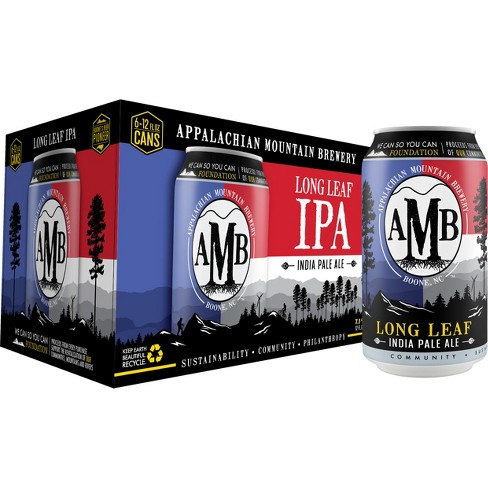 Appalachian Mountain Long Leaf IPA Beer - 6pk/12 fl oz Cans - image 1 of 3