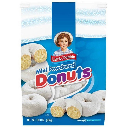 Image result for little debbie mini powdered donuts