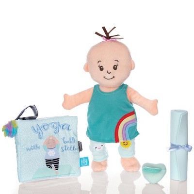 """The Manhattan Toy Company Wee Baby Stella 12"""" Soft Baby Doll with Yoga Set"""