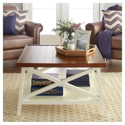 Etonnant Larkspur Large Coffee Table   Off White : Target