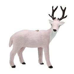 "Kurt S. Adler 6"" Blush Furry Right Facing Reindeer Christmas Ornament - Pink"