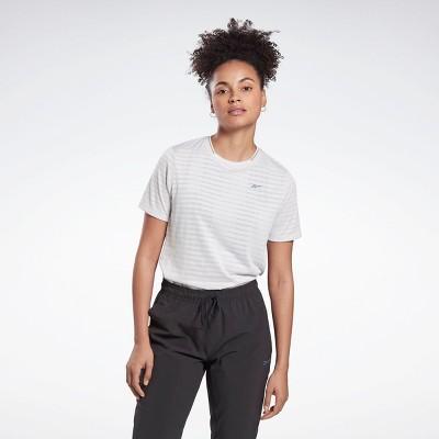 Reebok Run Jacquard Tee Womens Athletic T-Shirts