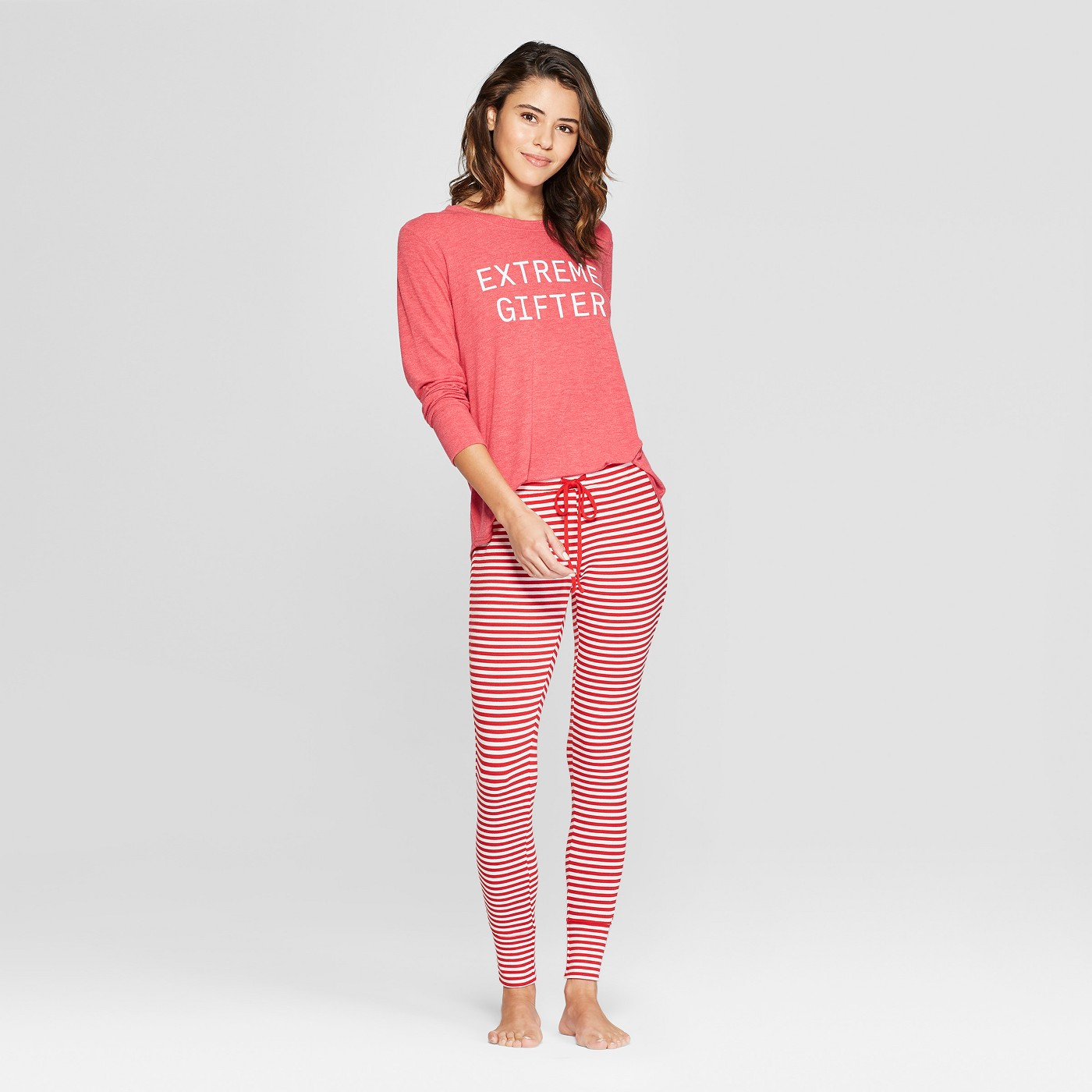 "Women's Extreme Gifter Cozy Pajama Set - Xhilarationâ""¢ Red - image 1 of 2"