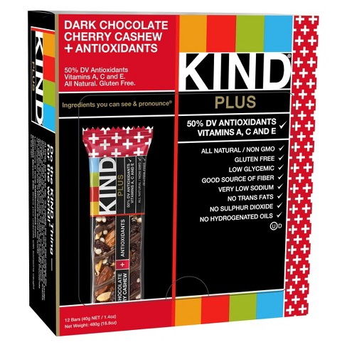 Kind Plus Dark Chocolate Cherry Cashew Nutrition Bars - 1.4oz/12ct - image 1 of 3