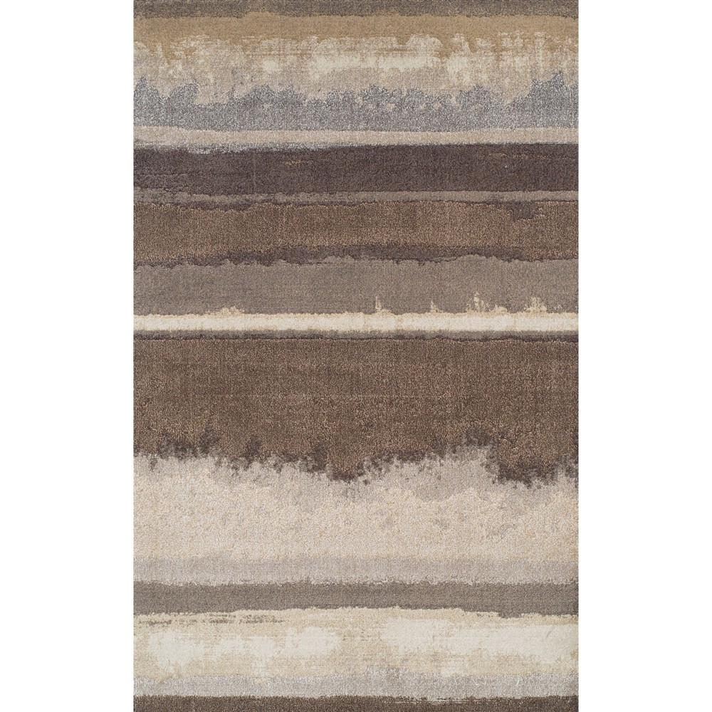 "Image of ""3'3""""X5'3"""" Mocha Solid Woven Accent Rug - Addison Rugs, Brown"""