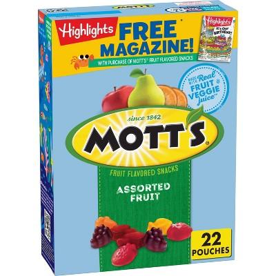 Mott's Assorted Fruit Flavored Snacks Value Pack - 19.2oz/22ct
