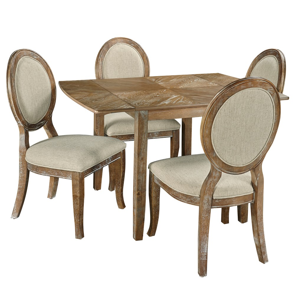 5pc Canby Dining Set Brown - Powell Company