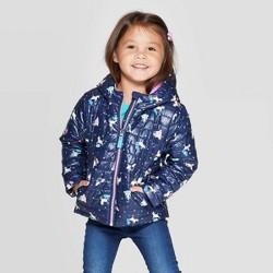 Toddler Girls' Midweight Puffer Jacket - Cat & Jack™ Blue