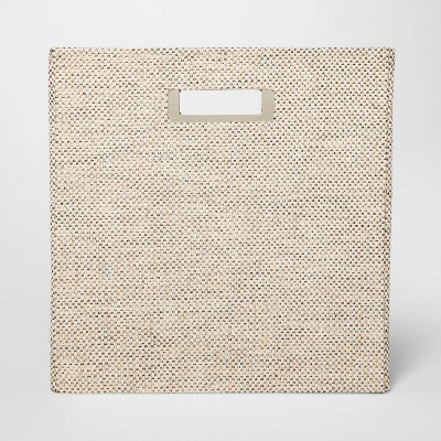 13  Fabric Cube Storage Bin Sand Linen - Threshold™