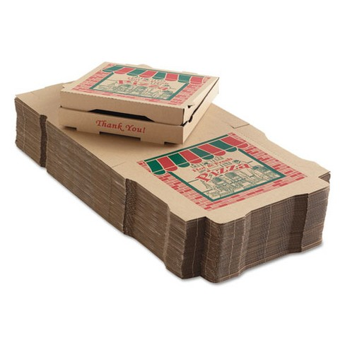 ARVCO Corrugated Pizza Boxes 12w x 12d x 1 3/4h Kraft 9124314 - image 1 of 1