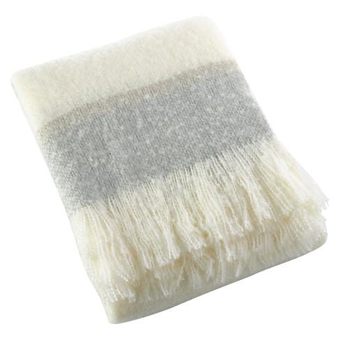 """Grey Sevan Faux Design Throw Blankets (50""""x60"""") - Saro Lifestyle® - image 1 of 2"""