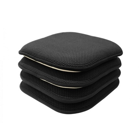 GoodGram Non Slip Chenille Premium Memory Foam Chair Cushions (4 Pack) - image 1 of 1
