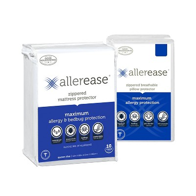 Maximum Mattress Cover with Pillow Cover - Allerease