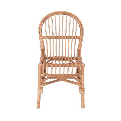 Troy Rattan Dining Chair Brown - East At Main