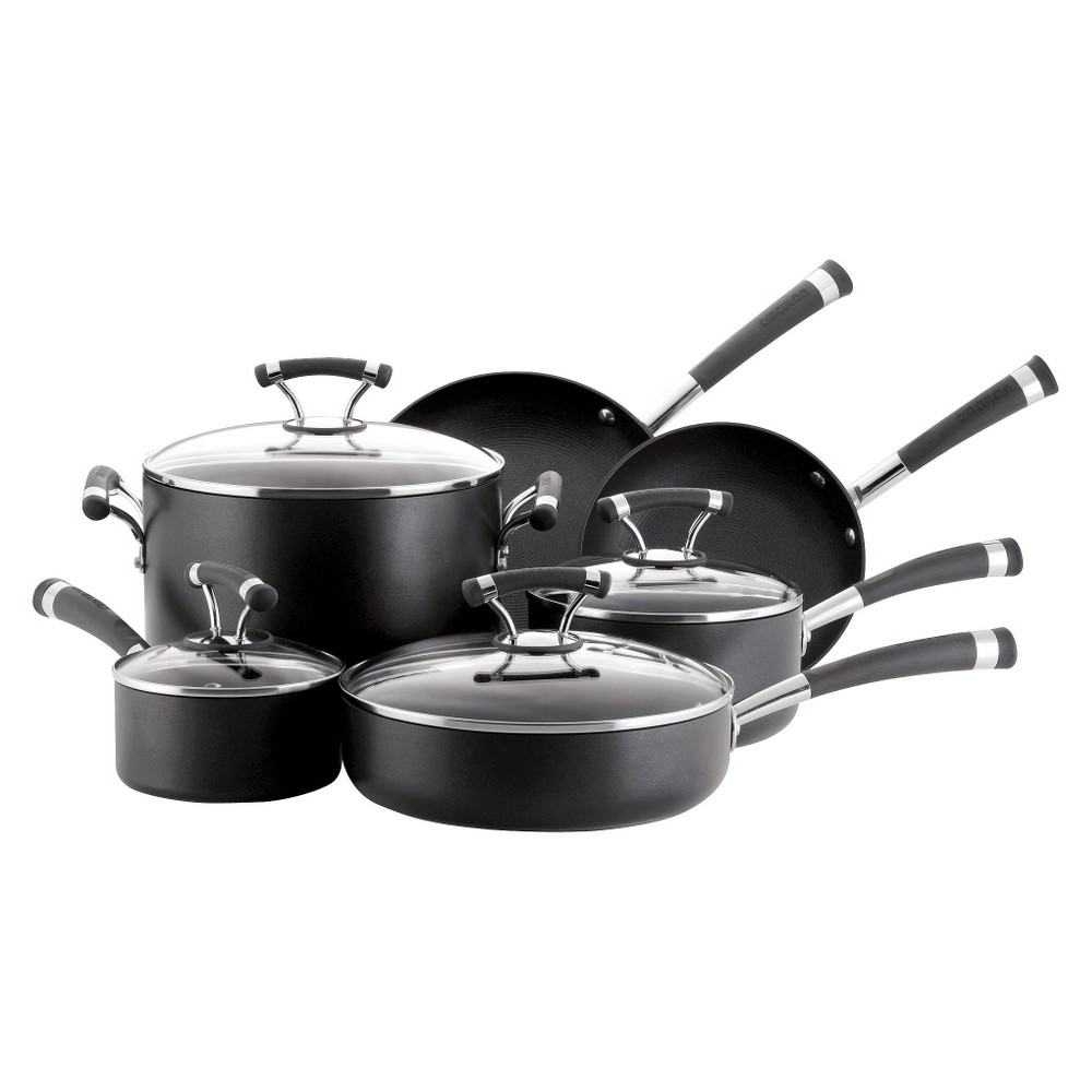 Circulon Contempo 10 Piece Cookware Set - Black
