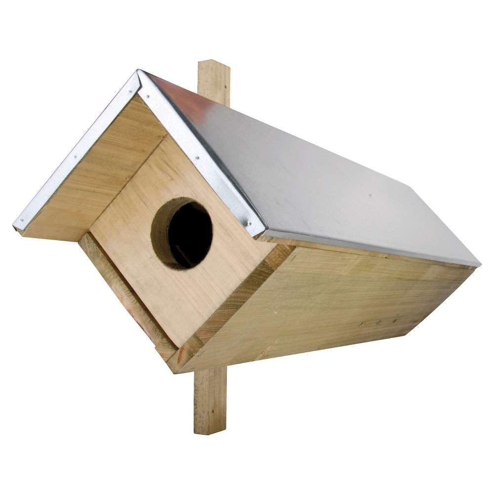 "Image of ""32"""" Owl Box - Wood - Esschert Design, Brown"""