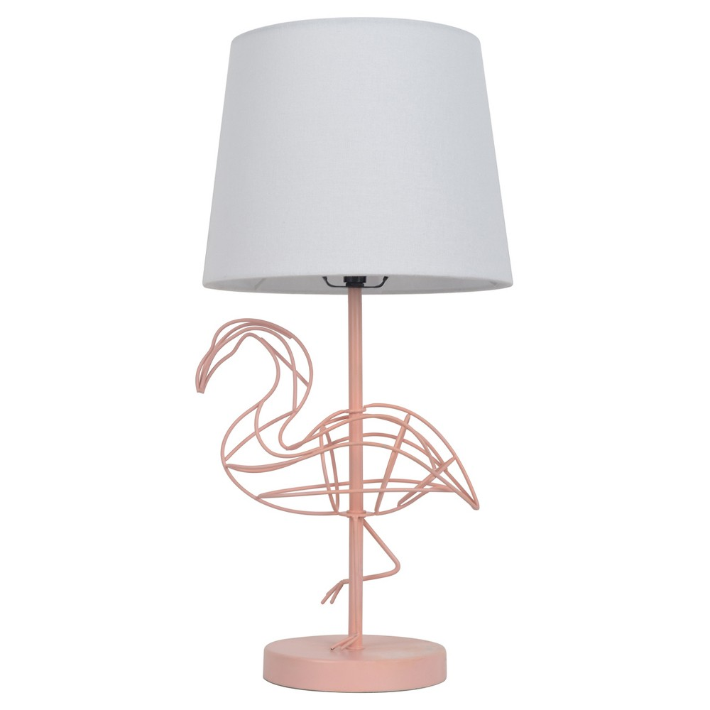 Pink Flamingo Wire Figural Table Lamp (Includes Cfl Bulb) - Pillowfort, Pink White