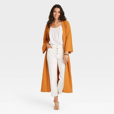 Women's Textured Solid Duster - Universal Thread™ Yellow