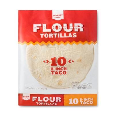 "8"" Taco Size Flour Tortillas - 16oz/10ct - Market Pantry™"
