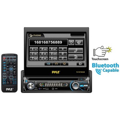 "Pyle PLTS78DUB 7"" TOUCH SCREEN CD/DVD/MP3 Car Player w/ AUX Receiver & Bluetooth"