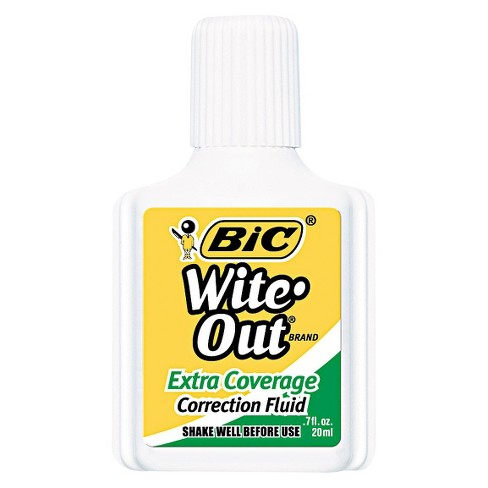 BIC® Wite-Out Extra Coverage Correction Fluid, 20 ml Bottle - White (12 Per Set) - image 1 of 2