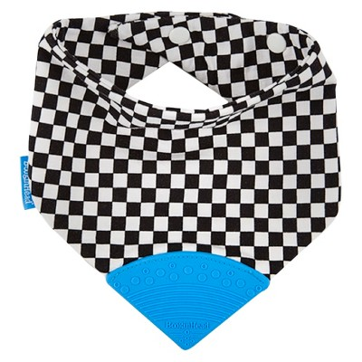 Bandana Teether Bib Skater Black/White
