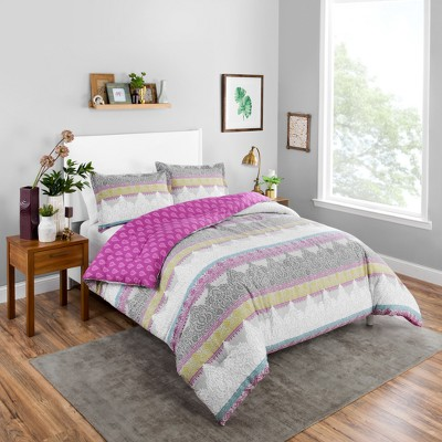 Margo Reversible Comforter Set (Queen)3pc - Boho Boutique