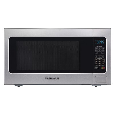 Farberware 2.2 cu ft 1200 Watt Professional Microwave Oven with Smart Sensor Cooking Stainless Steel - FMO22ABTBKA