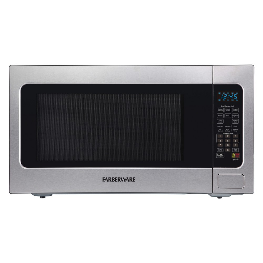 Farberware 2.2 cu ft 1200 Watt Professional Microwave Oven with Smart Sensor Cooking Stainless Steel (Silver) - FMO22ABTBKA