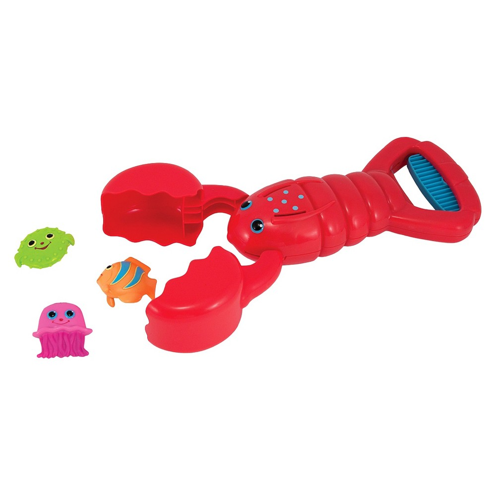 Melissa & Doug Sunny Patch Louie Lobster Claw Catcher - Grab-and-Squeeze Pool Toy, Multi-Colored