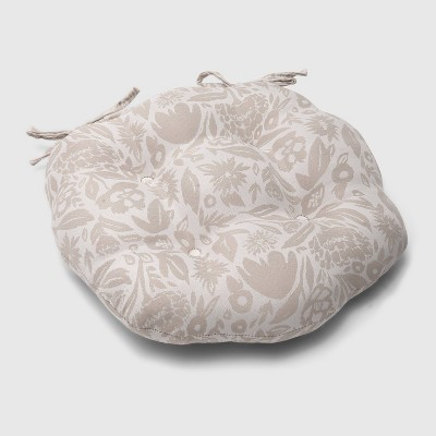 Garden Party Round Outdoor Tufted Seat Cushion Tan - Opalhouse™