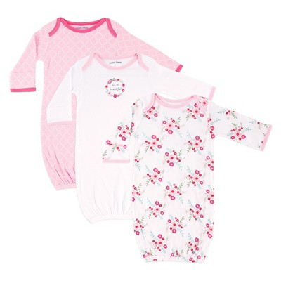 Luvable Friends Baby Girls' 3 Pack Sleeper Set - Floral