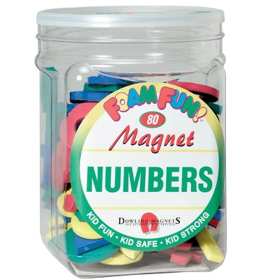 Dowling Miner Foam Fun Magnetic Numbers and Operation Signs, set of 80