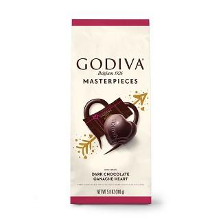 Godiva Valentines Day Masterpiece Dark Chocolate Ganache Heart Bag - 5.8oz