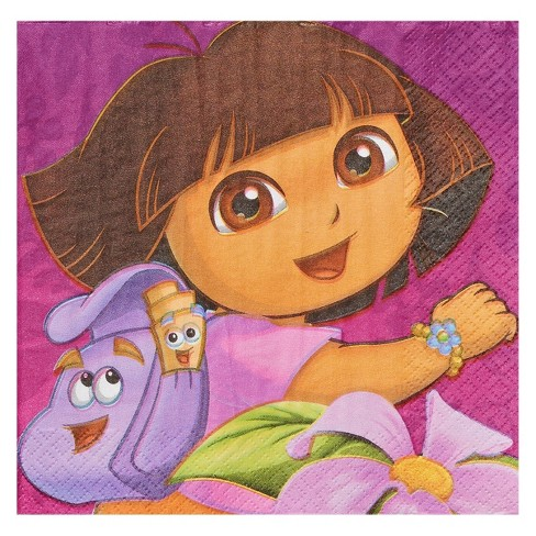 Dora the Explorer Disposable Napkins - 16ct - image 1 of 2