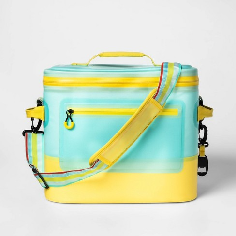 Welded Square 24 Can Cooler Blue/Yellow - Sun Squad™ - image 1 of 2