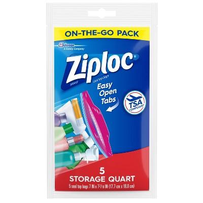 Ziploc Food Storage Seal Top Bags - 5ct