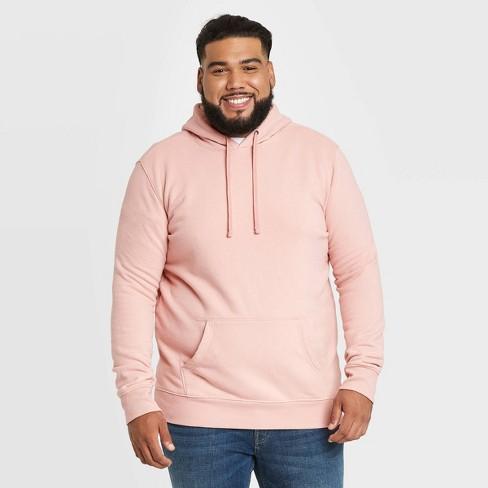 Men's Big & Tall Regular Fit Fleece Pullover Hoodie Sweatshirt - Goodfellow & Co™ Pink - image 1 of 3