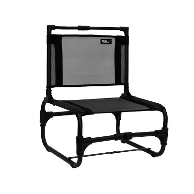 TravelChair 169 Larry Weather Resistant Lightweight Portable Outdoor Camping Chair, Steel (Black)
