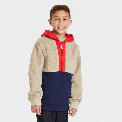 Boys' Sherpa Colorblock Sweatshirt - Cat & Jack™