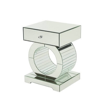 Addison Glam Mirrored Accent Table Silver - Christopher Knight Home