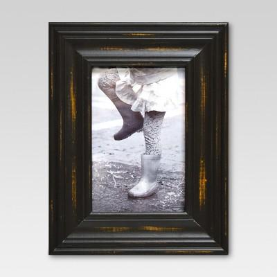 Weathered Wood 4 x6  Black Frame - Threshold™