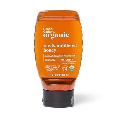 Organic Raw Unfiltered Honey - 12oz - Good & Gather™
