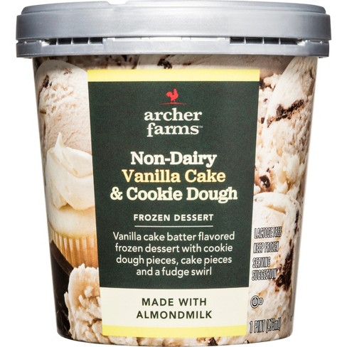 Non-Dairy Vanilla Cake & Cookie Dough Frozen Dessert - 16oz - Archer Farms™ - image 1 of 1