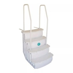 Main Access iStep Above Ground Swimming Pool Deck Entry Step Ladder, 200601T